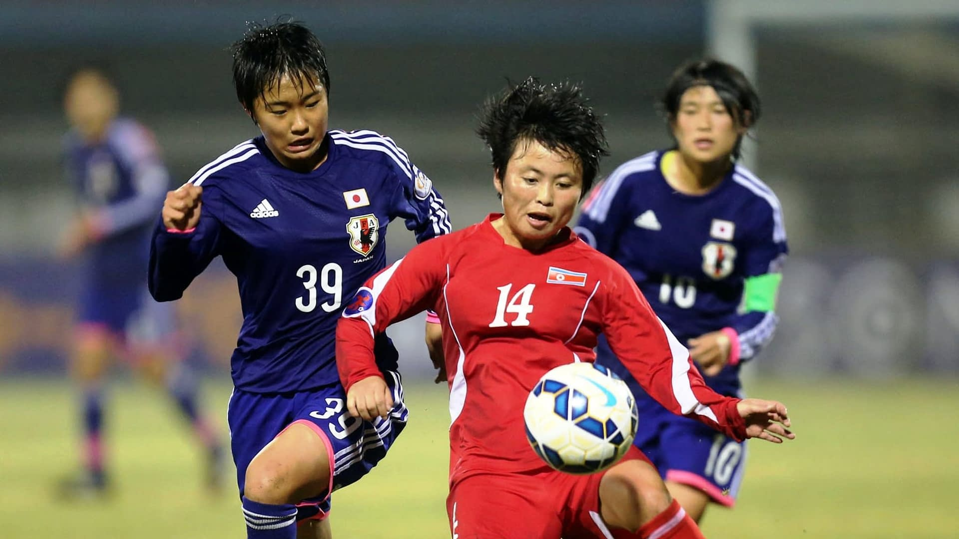 AFC U-16 Women's Championship: Action from the final match between Korea DPR and Japan